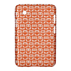 Coral And White Owl Pattern Samsung Galaxy Tab 2 (7 ) P3100 Hardshell Case