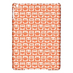 Coral And White Owl Pattern iPad Air Hardshell Cases