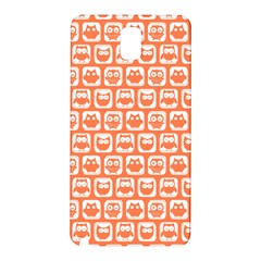 Coral And White Owl Pattern Samsung Galaxy Note 3 N9005 Hardshell Back Case