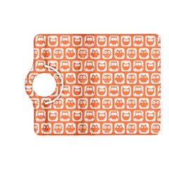 Coral And White Owl Pattern Kindle Fire HD (2013) Flip 360 Case