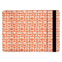 Coral And White Owl Pattern Samsung Galaxy Tab Pro 12.2  Flip Case