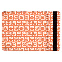 Coral And White Owl Pattern iPad Air Flip