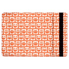 Coral And White Owl Pattern Ipad Air 2 Flip
