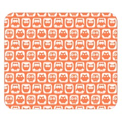 Coral And White Owl Pattern Double Sided Flano Blanket (Small)