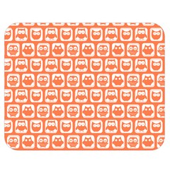 Coral And White Owl Pattern Double Sided Flano Blanket (medium)