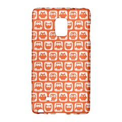 Coral And White Owl Pattern Galaxy Note Edge