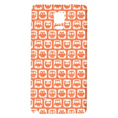 Coral And White Owl Pattern Galaxy Note 4 Back Case