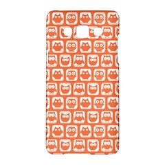 Coral And White Owl Pattern Samsung Galaxy A5 Hardshell Case