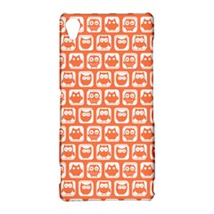 Coral And White Owl Pattern Sony Xperia Z3