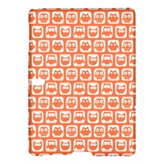 Coral And White Owl Pattern Samsung Galaxy Tab S (10 5 ) Hardshell Case