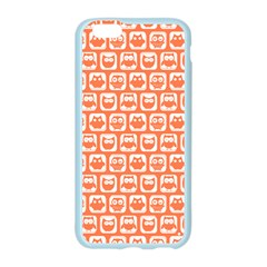 Coral And White Owl Pattern Apple Seamless iPhone 6 Case (Color)