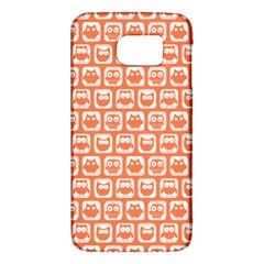 Coral And White Owl Pattern Galaxy S6