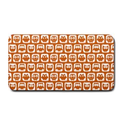 Orange And White Owl Pattern Medium Bar Mats