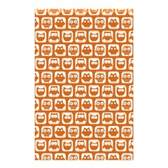 Orange And White Owl Pattern Shower Curtain 48  x 72  (Small)