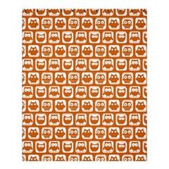 Orange And White Owl Pattern Shower Curtain 60  x 72  (Medium)