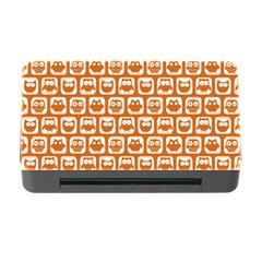 Orange And White Owl Pattern Memory Card Reader with CF