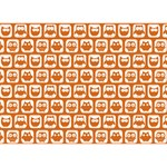 Orange And White Owl Pattern You Rock 3D Greeting Card (7x5)  Front