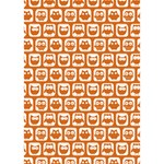 Orange And White Owl Pattern You Rock 3D Greeting Card (7x5)  Inside