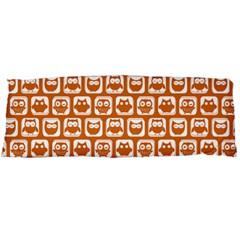 Orange And White Owl Pattern Body Pillow Cases Dakimakura (Two Sides)