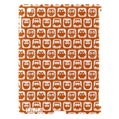 Orange And White Owl Pattern Apple iPad 3/4 Hardshell Case (Compatible with Smart Cover)
