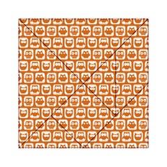 Orange And White Owl Pattern Acrylic Tangram Puzzle (6  x 6 )