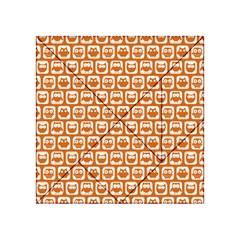 Orange And White Owl Pattern Acrylic Tangram Puzzle (4  x 4 )