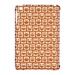 Orange And White Owl Pattern Apple iPad Mini Hardshell Case (Compatible with Smart Cover)