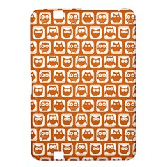 Orange And White Owl Pattern Kindle Fire HD 8.9