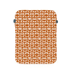 Orange And White Owl Pattern Apple iPad 2/3/4 Protective Soft Cases