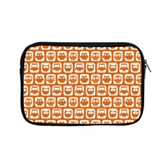 Orange And White Owl Pattern Apple iPad Mini Zipper Cases