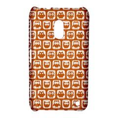Orange And White Owl Pattern Nokia Lumia 620