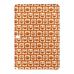 Orange And White Owl Pattern Samsung Galaxy Tab Pro 10.1 Hardshell Case