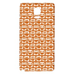 Orange And White Owl Pattern Galaxy Note 4 Back Case