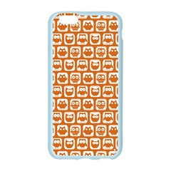 Orange And White Owl Pattern Apple Seamless iPhone 6 Case (Color)