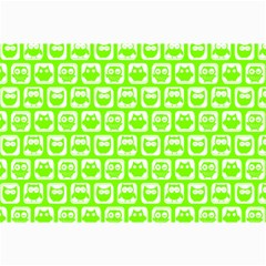 Lime Green And White Owl Pattern Collage 12  x 18