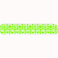 Lime Green And White Owl Pattern Small Bar Mats