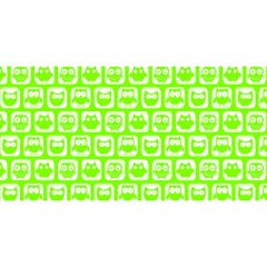 Lime Green And White Owl Pattern YOU ARE INVITED 3D Greeting Card (8x4)