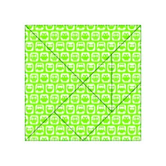 Lime Green And White Owl Pattern Acrylic Tangram Puzzle (4  X 4 )