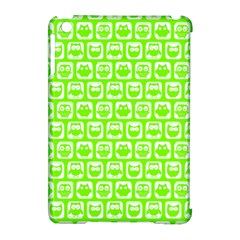 Lime Green And White Owl Pattern Apple iPad Mini Hardshell Case (Compatible with Smart Cover)