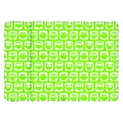 Lime Green And White Owl Pattern Samsung Galaxy Tab 8.9  P7300 Flip Case