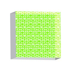 Lime Green And White Owl Pattern 4 x 4  Acrylic Photo Blocks