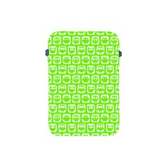 Lime Green And White Owl Pattern Apple iPad Mini Protective Soft Cases