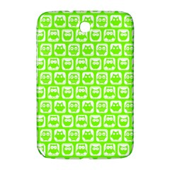 Lime Green And White Owl Pattern Samsung Galaxy Note 8.0 N5100 Hardshell Case