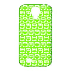 Lime Green And White Owl Pattern Samsung Galaxy S4 Classic Hardshell Case (PC+Silicone)