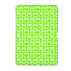 Lime Green And White Owl Pattern Samsung Galaxy Tab 2 (10 1 ) P5100 Hardshell Case
