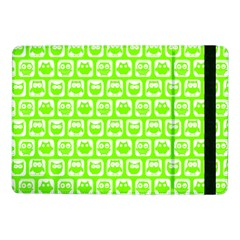 Lime Green And White Owl Pattern Samsung Galaxy Tab Pro 10.1  Flip Case