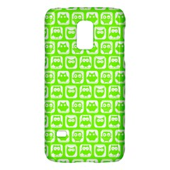 Lime Green And White Owl Pattern Galaxy S5 Mini