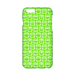 Lime Green And White Owl Pattern Apple iPhone 6/6S Hardshell Case