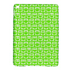 Lime Green And White Owl Pattern iPad Air 2 Hardshell Cases