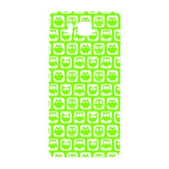 Lime Green And White Owl Pattern Samsung Galaxy Alpha Hardshell Back Case